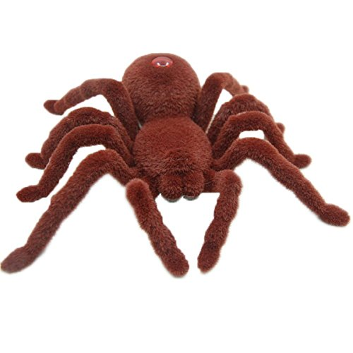 (Escomdp Kids 2CH RC Spider Radio Remote Control Vehicle Car Tarantula Realistic Animal Scary Toy Halloween Christmas)