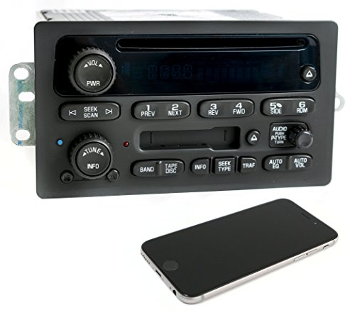 1 Factory Radio 638-01512-BT AM FM Radio CD Cassette Player Remanufactured Black Bluetooth OE Part Number: 15104156 AM FM Radio CD Cassette Player