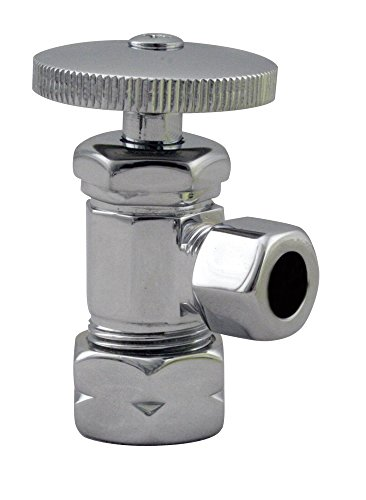 (Westbrass Round Handle Angle Stop Shut Off Valve, 1/2