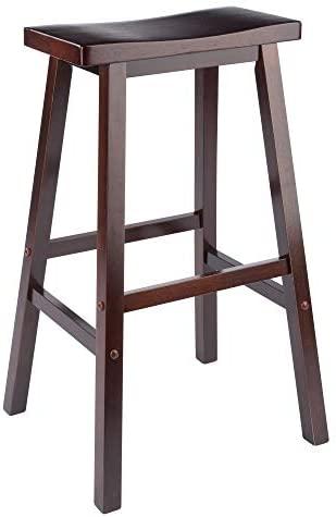 Amazon Com Winsome 94089 Satori Stool 29 Walnut Furniture Decor