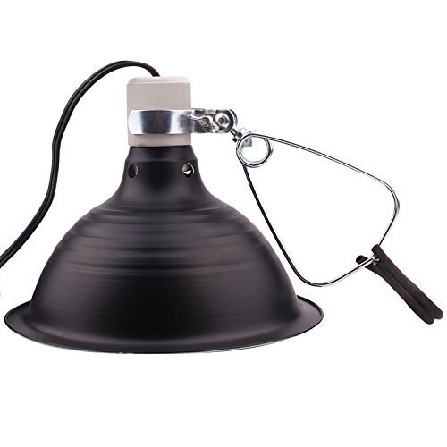 .5 Inch Deep Dome Lamp Fixture Aluminum Reflector 6 Foot Power Cord (8.5 Inch) ()