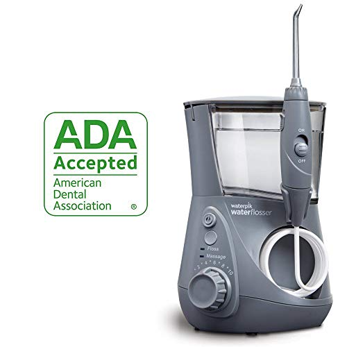(Waterpik Water Flosser Electric Dental Countertop Oral Irrigator For Teeth - Aquarius Professional, WP-667 Modern Gray)