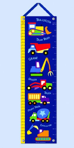 Olive Kids Under Construction Truck - Under Construction Heavy Equipment Hanging Growth Chart
