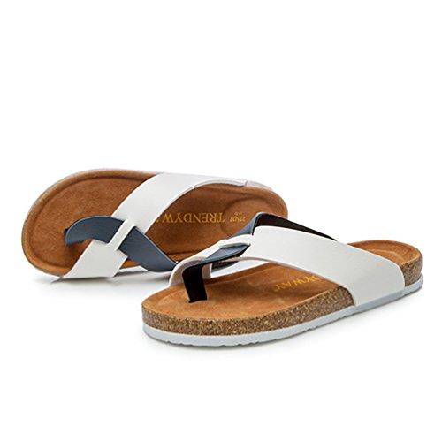 Clip Blue Sangle Tongs Zkoo Sandale Chaussures Toe Flats Chaussons De Femmes Plage Flip Ete Flops Blanc Sandales gqTwSYwa