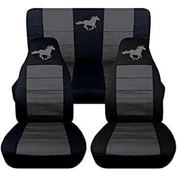 1994 To 2004 Ford Mustang Front And Rear Running Horse Seat Covers Option For A Coupe