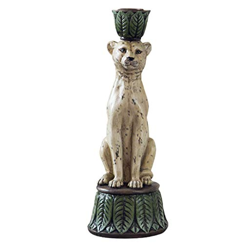Zxb-shop- Candelabras Leopard Modeling Candle Holder Simulation Animal Candlestick Study Home Furnishings