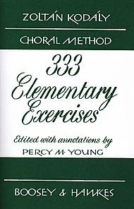 Boosey and Hawkes 333 Elementary Exercises - Zoltn Kodly Choral (Elementary Choral Music)