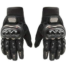 Probiker FM-Gloves_BK_Full_L Bike Full Finger Gloves (Black, Large)