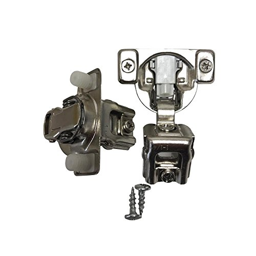 (Onus 311 Series 2D Soft Closing Compact Hinges 105 Degree 1-1/4'' Full Overlay Face Frame Hinges with Mounting Plates (5)