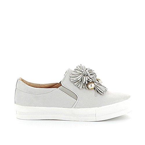 Misstic - Zapatillas de Deporte de Lona Mujer gris