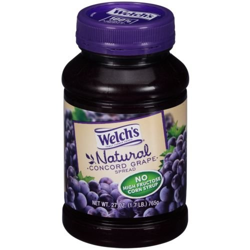 Welchs Natural Concord Grape Spread, 27 Ounce -- 12 per case.