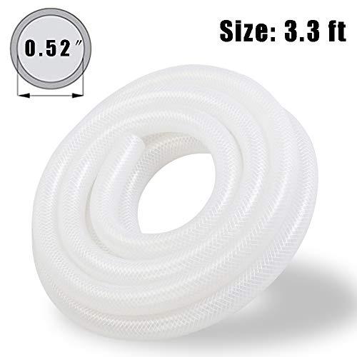 Silica Gel Braided Clear Flexible Tubing Antifreeze Fiber Reinforced Good Bending Nylon Hose