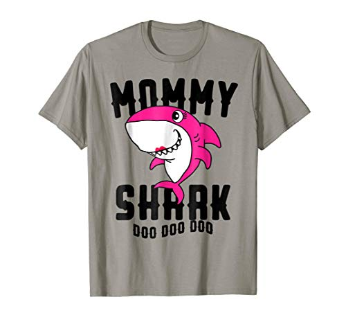 Mommy Shark T Shirt Mother Grandma Halloween Christmas -
