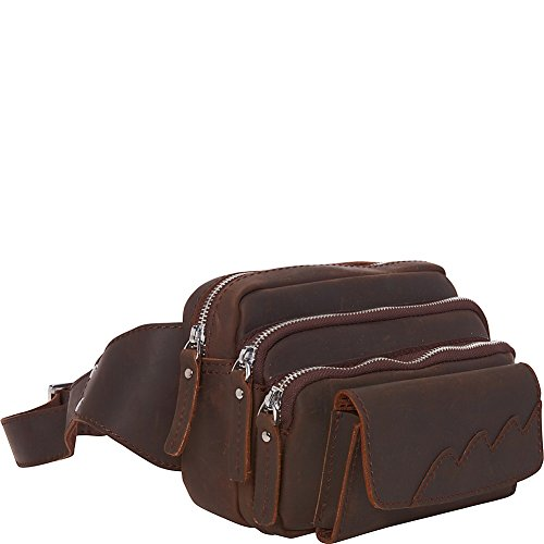Vagabond Traveler Fashion Cowhide Leather Waist Packs (Dark Brown) by Vagabond Traveler