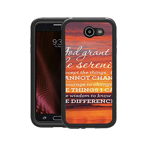 FIDIKO Cool Serenity Prayer Sunset Background Inspirational Quote Pattern Protective Case Compatible Galaxy j7, Anti Dust Slim Hippie Design Hard Case Compatible Samsung Galaxy j7 -