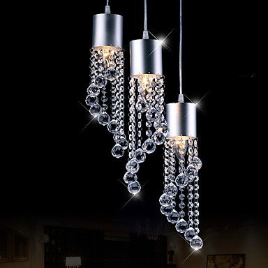 Wallzkey chandelier fringe modern ceiling lamp flush chandelier with chrome plate e14 3 light 40w