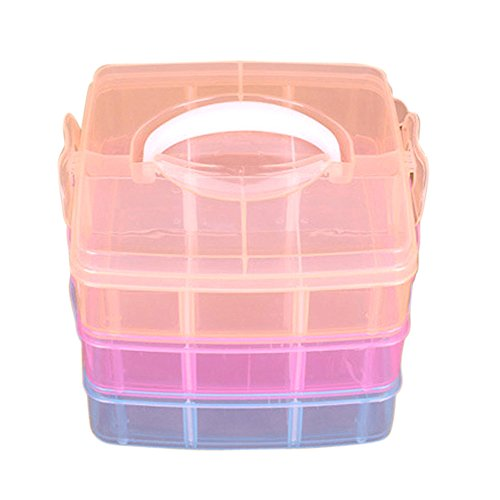 BB67 Clear Plastic Jewelry Bead Storage Box Container Case Craft Tool Cosmetic Organizer Holder Gift Home Travel Supplies