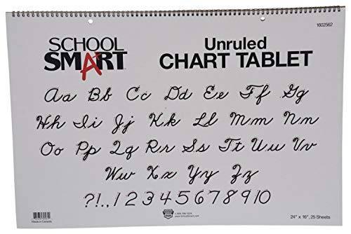 - School Smart Chart Tablet, 24 x 16 Inches, Unruled, 25 Sheets