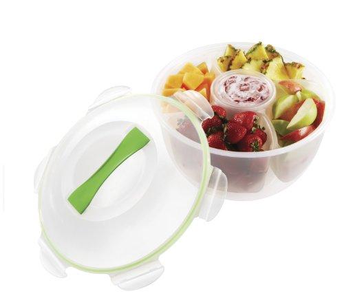 Snapware 1113705 Airtight Fruit and Veggie Tainer (Snapware Divided)