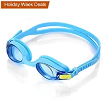 HiCool Anti-Fog Swim Goggle for Kids and Early Teens