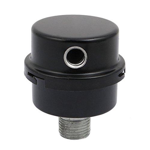 uxcell 20mm Thread Air Compressor Intake Filter Silencer Metal Housing Paper Element - Element Housing