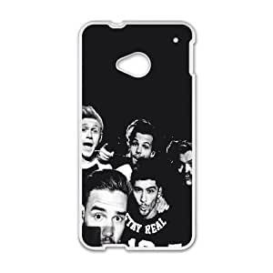 1D Group HTC One M7 Cell Phone Case White E0585794