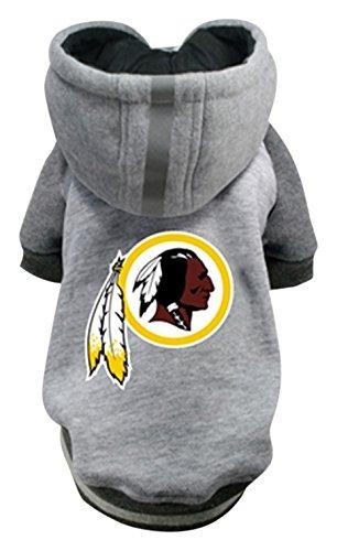 Hip Doggie NFL Redskins Pet Hoodie, Large