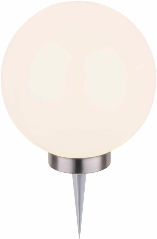 Dehner–Lámpara Solar, Esfera con estaca, Cambio de Color, diámetro de 20cm, plástico