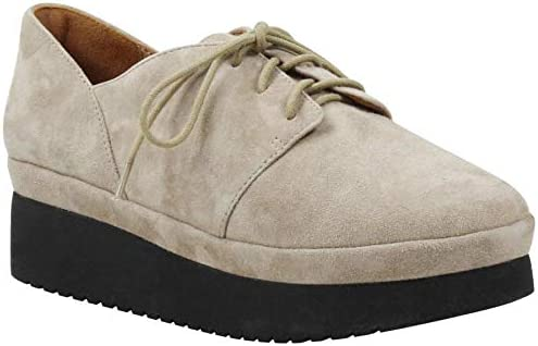 6 L`Amour Des Pieds Womens Adolphus Taupe Kid Suede Oxford