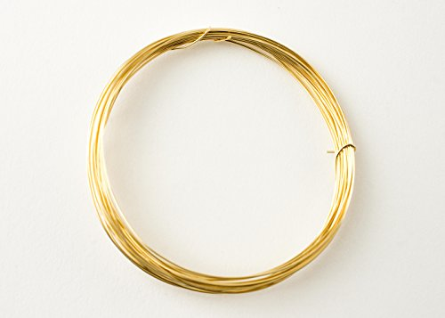 14k Gold Filled Round Half Hard 26 Gauge Wire, 11 Feet, Made in USA - Filled Wire Gauge Round Gold