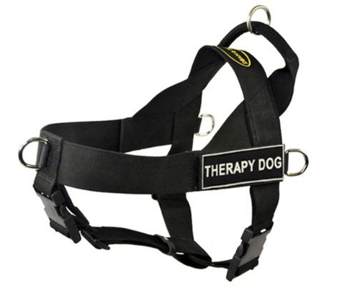 DT Universal No Pull Dog Harness, Therapy Dog, Black, Small, Fits Girth Size: 24-Inch to 27-Inch, My Pet Supplies