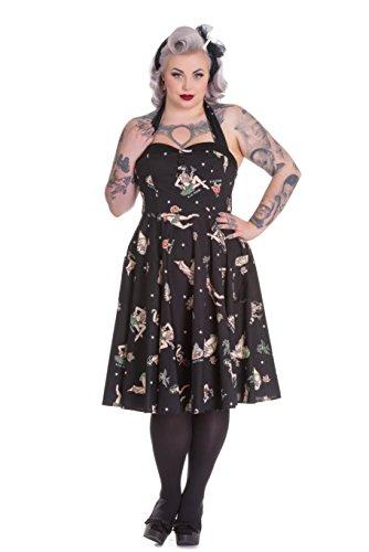 Hell-Bunny-Plus-Size-50s-Rockabilly-Halter-Hula-Skull-Nautical-Lucinda-Dress