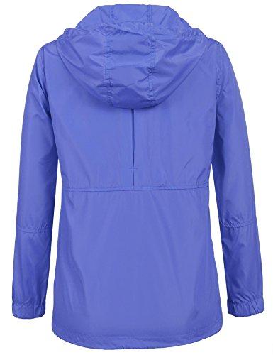Randonnée À vent Léger Pliable De Extérieure Coorun 3 Femme Capuche Vestes pluie Bleu Coupe Anti Imperméable q17cw1tBSR