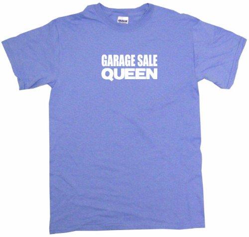 Garage Sale Queen Women's Tee Shirt XL-Light Blue-Regular