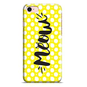 Loud Universe iPhone 8 Case Meow Cat Lovers Yellow Polka Dot Metal Inforced Wrap Around iPhone 8 Cover