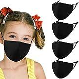 Woplagyreat Black Kids Face Mask with Adjustable