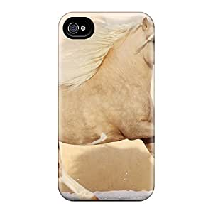 4/4s Scratch-proof Protection Case Cover For Iphone/ Hot Pretty Horse Running Phone Case by Maris's Diary