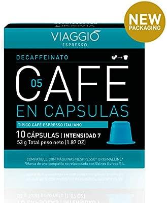 VIAGGIO ESPRESSO - 60 Cápsulas de Café Compatibles con Máquinas Nespresso. (DECAFFEINATO)