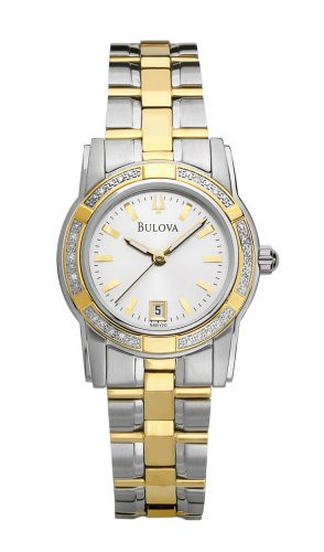 Bulova Women's 98R120 Diamond Accented Two-Tone Watch
