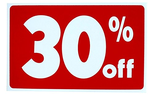 1-set-of-primo-popular-sale-30-percent-off-sign-promotion-plastic-cards-1-side-printed-size-7-x-11