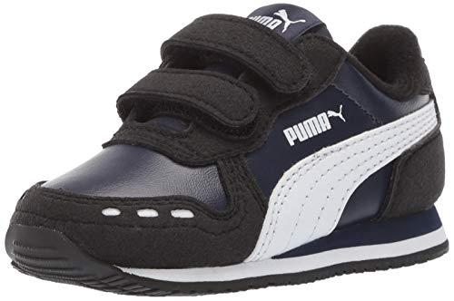 PUMA Baby Cabana Racer Velcro Sneaker, Peacoat-Black-White, 5 M US Toddler