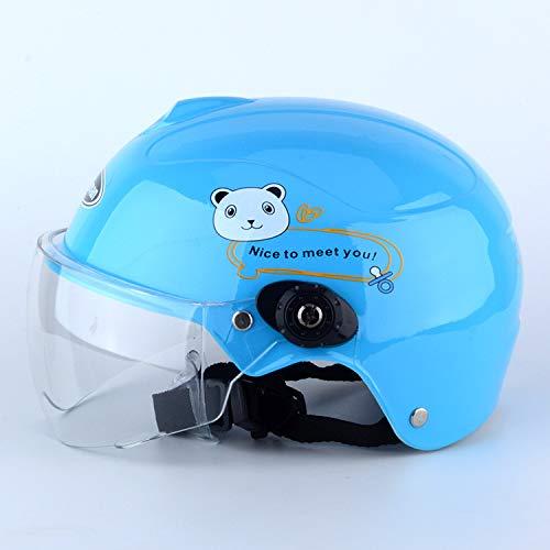 Casque de Moto FidgetFidget pour Enfants et Jeunes Filles Coupe-Vent Respirant