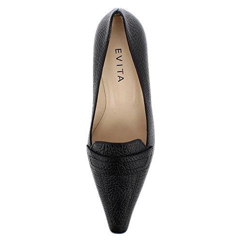 Evita Escarpins Lia Cuir Grainé Femme Noir Shoes OqvrwEAOBn