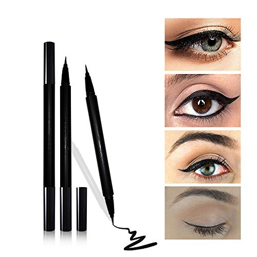 Mesaidu 2-in-1 Eye Makeup Super Slim, Long Lasting, Waterproof, Liquid Eyeliner (Black) ()
