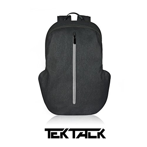 Tektalk Business Anti-theft Multifunctional Laptop Backpack, with USB Cable and Coded Lock, Durable & Lightweight, Suitable for Laptops up to 15.6 inches, for School / Travel / Work (Black) (Lock Durable Notebook)