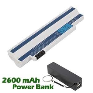 Battpit Bateria de repuesto para portátiles Acer Aspire One 533-13870 (4400mah / 48wh) con 2600mAh Banco de energía / batería externa (negro) para Smartphone