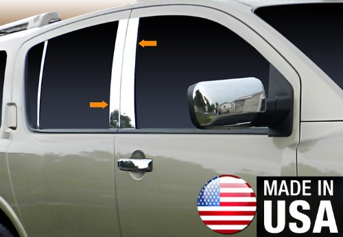 Made in USA! Works With 03-10 Infiniti QX56 4PC Stainless Steel Chrome Pillar Post Trim