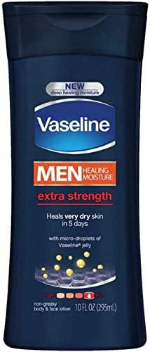 Vaseline Men Healing Moisture Body Lotion, Extra Strength, 10 Fl Oz