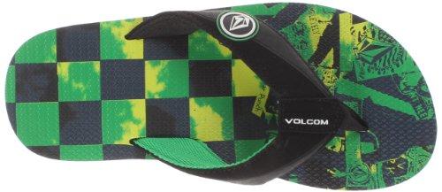 Volcom V0811306 Chanclas Unisexo Verde (GREEN GRN)