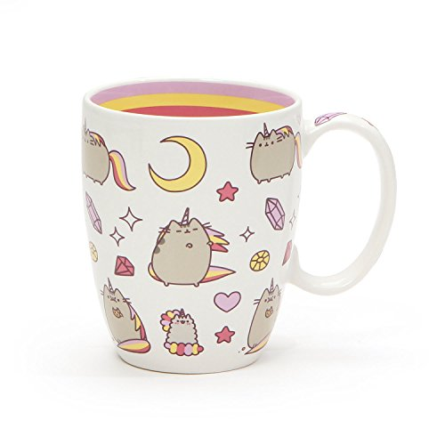 Pusheen by Our Name is Mud Magical Pusheenicorn Stoneware Coffee Mug, 12 oz.